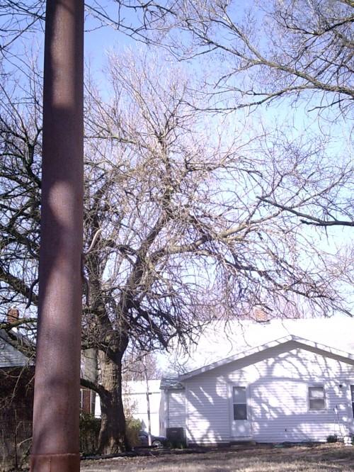Elmer Kneale's flagpole